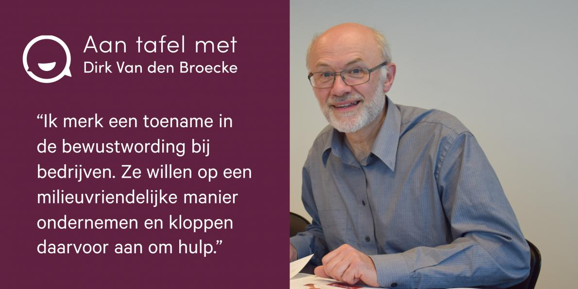 Aan tafel met.. Dirk Van den Broecke