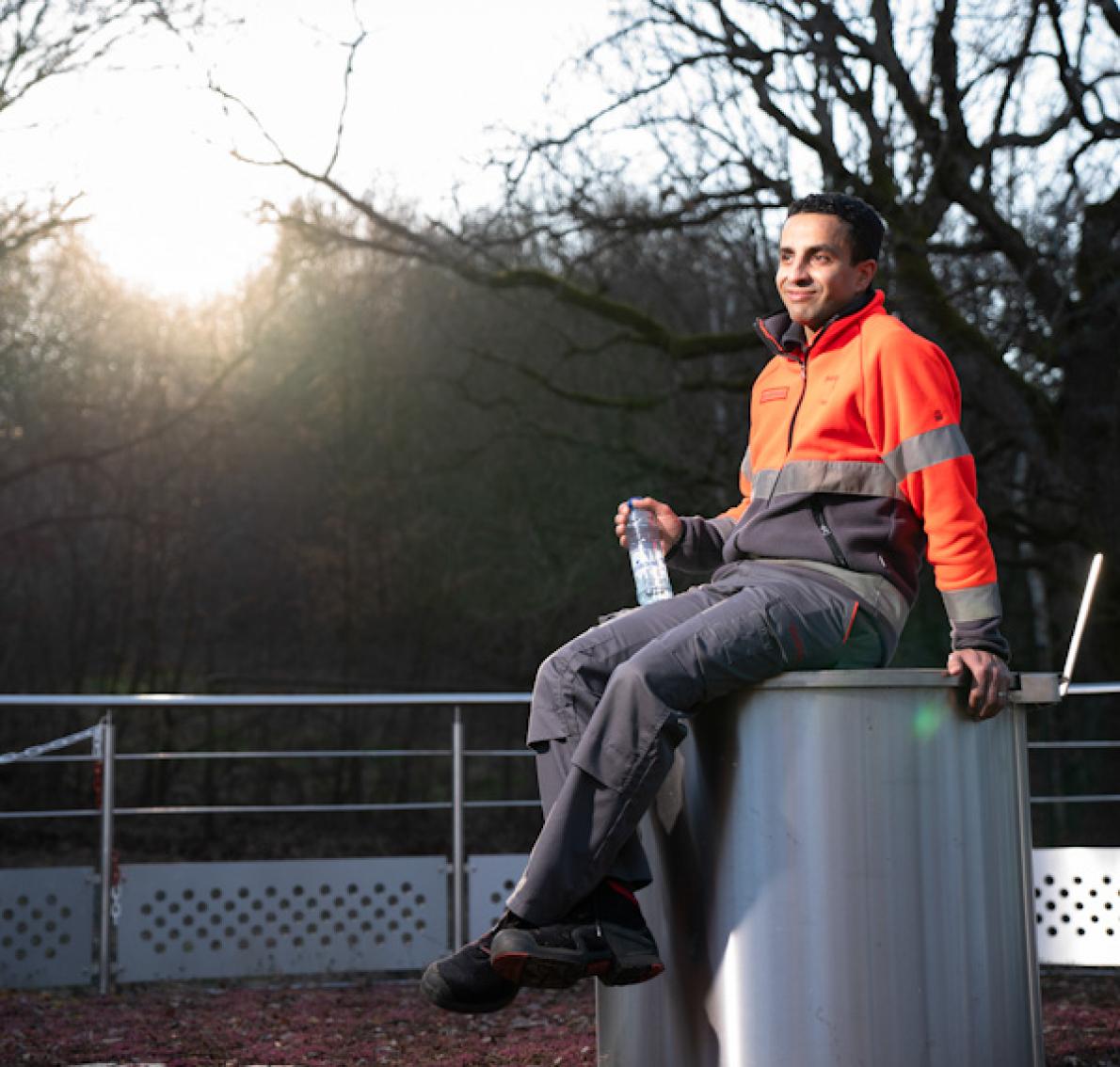 Achmed Boumrah, directeur van de mineraalwaterbottelarij in Chaudfontaine