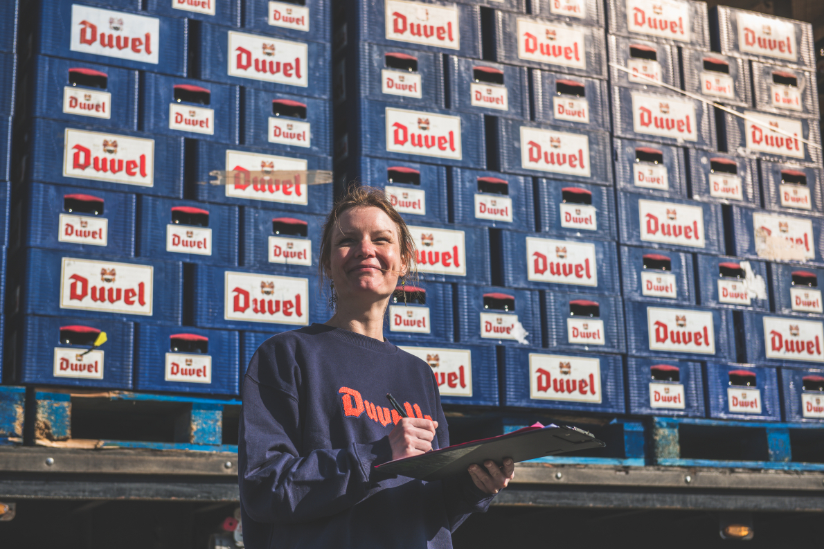 Ruth, een sterke Duvelle bij logistiek