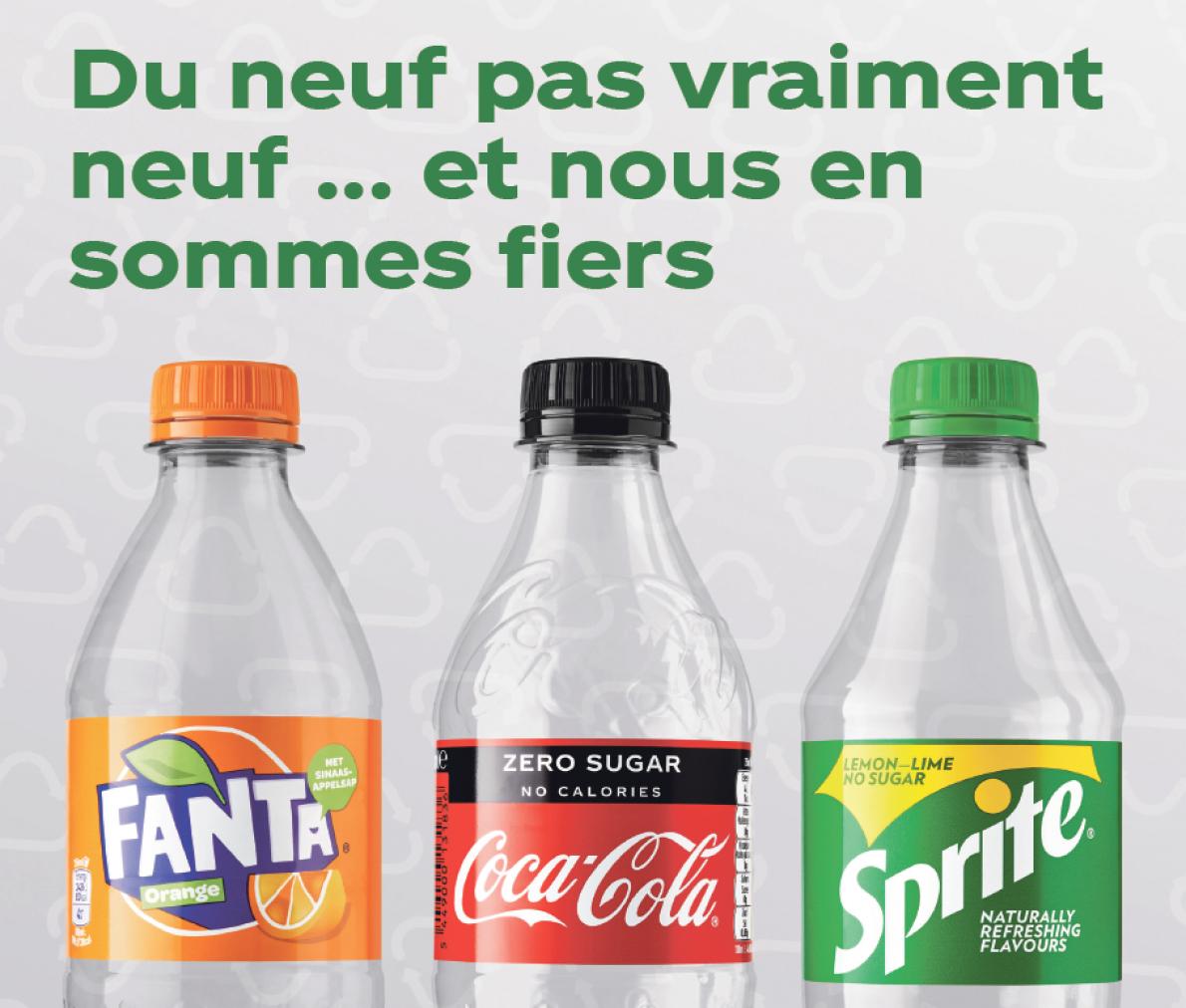 Les nouvelles bouteilles de Coca-Cola composées d'au moins 50 % de plastique recyclé