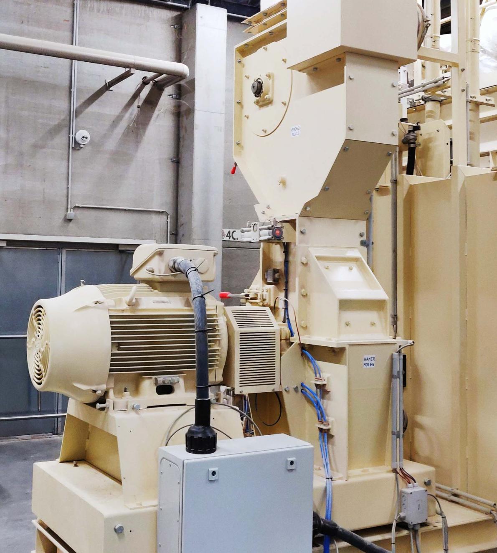 Brouwerij Huyghe investeerde €162.000 in een nieuwe hamermolen, die moutkorrels tot zetmeel plet.