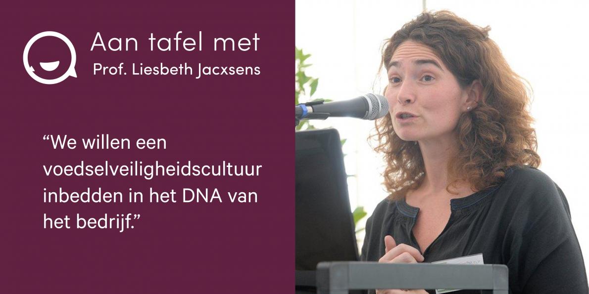 Aan tafel met Prof. Liesbeth Jacxsens